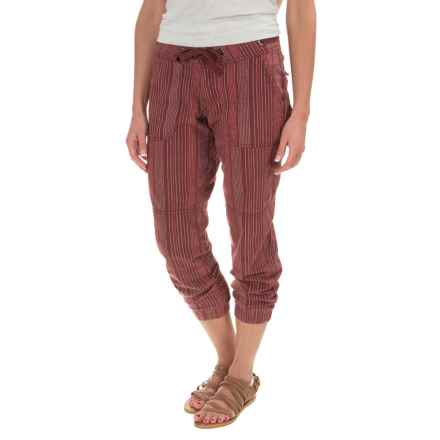 prAna Steph Joggers - Linen-Cotton (For Women) in Raisin - Closeouts