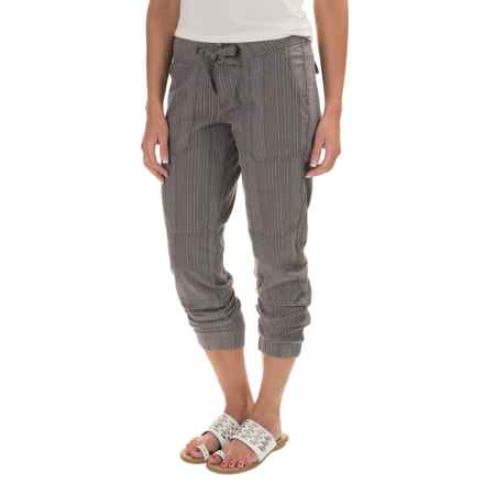 prAna Steph Joggers - Linen-Organic Cotton (For Women) in Gravel - Closeouts