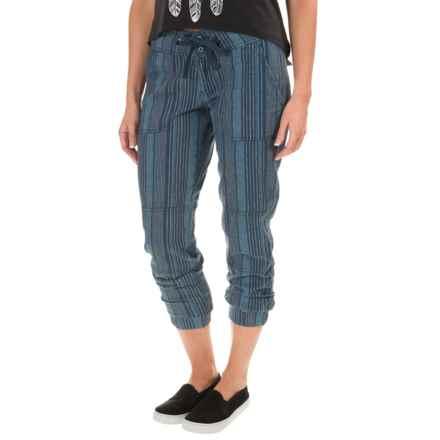 prAna Steph Joggers - Linen-Organic Cotton (For Women) in Mood Indigo - Closeouts