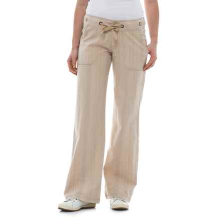 prAna Steph Wide-Legged Pants - Linen-Organic Cotton (For Women) in Cobblestone - Closeouts