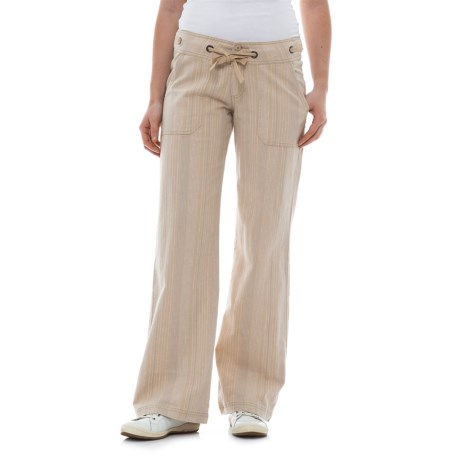 prAna Steph Wide-Legged Pants - Linen-Organic Cotton (For Women) in Cobblestone