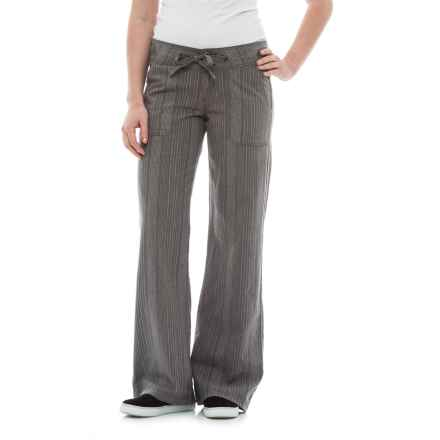 prAna Steph Wide-Legged Pants - Linen-Organic Cotton (For Women) in Gravel - Closeouts