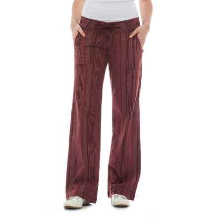 prAna Steph Wide-Legged Pants - Linen-Organic Cotton (For Women) in Raisin - Closeouts