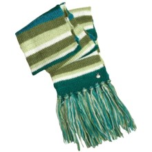 prAna Stripe Knotted Tassel Scarf (For Women) in Avocado - Closeouts
