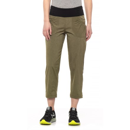 5f66a2b533527a prAna Summit Capris (For Women) in Cargo Green Heather - Closeouts