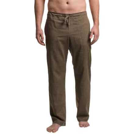 prAna Sutra Pants (For Men) in Brown Herringbone - Closeouts