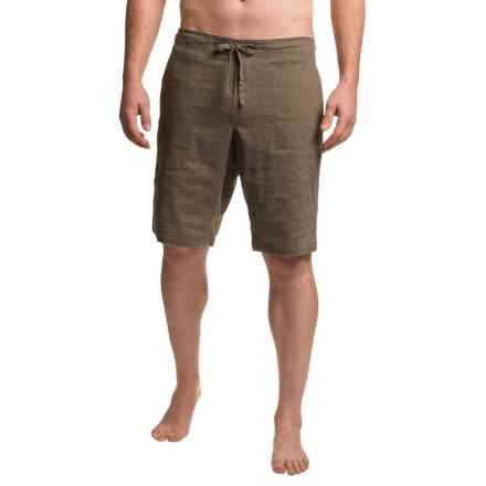 prAna Sutra Shorts - Hemp, Recycled Materials (For Men) in Brown Herringbone - Closeouts
