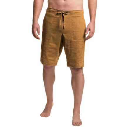 prAna Sutra Shorts - Hemp, Recycled Materials (For Men) in Dark Ginger - Closeouts