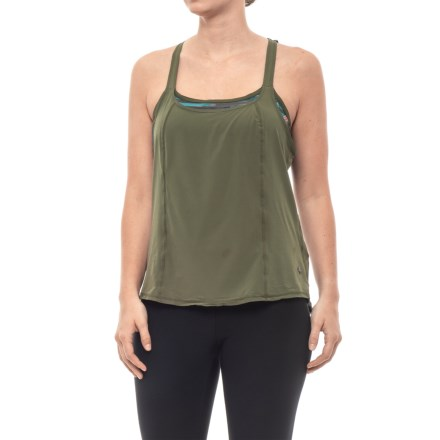 a73d2003a6ae8 prAna Sway Tank Top - Shelf Bra (For Women) in Cargo Green - Closeouts