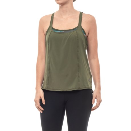 5c04976b4632a prAna Sway Tank Top - Shelf Bra (For Women) in Cargo Green