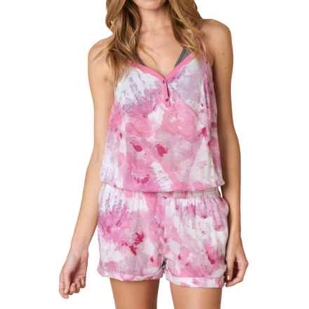 prAna Sylvia Romper - Organic Cotton, Sleeveless (For Women) in Dahlia - Closeouts
