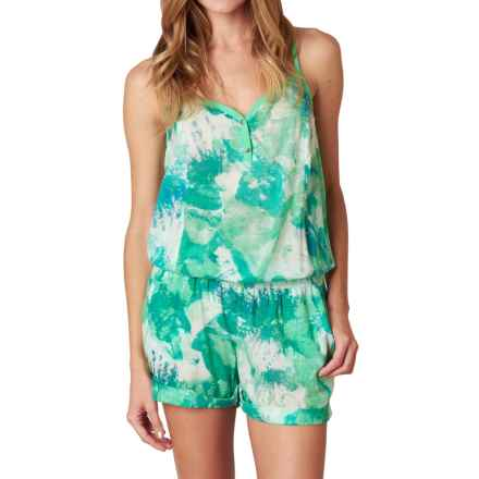 prAna Sylvia Romper - Organic Cotton, Sleeveless (For Women) in Light Jade - Closeouts