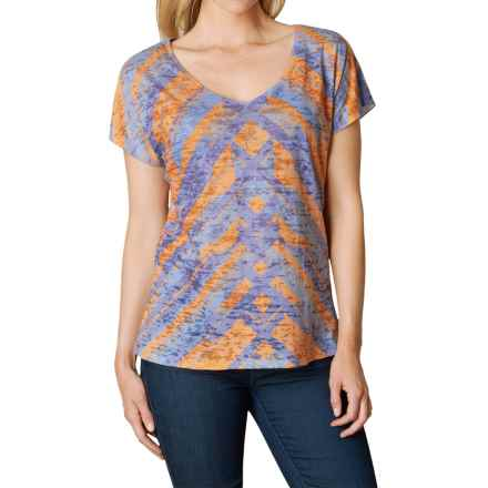 prAna Tabitha Shirt - Short Sleeve (For Women) in Adobe - Closeouts