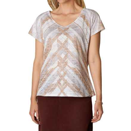 prAna Tabitha Shirt - Short Sleeve (For Women) in Stone - Closeouts