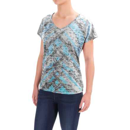 prAna Tabitha Shirt - Short Sleeve (For Women) in Vintage Blue - Closeouts