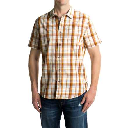 prAna Tamrack Shirt - Short Sleeve (For Men) in Auburn - Closeouts