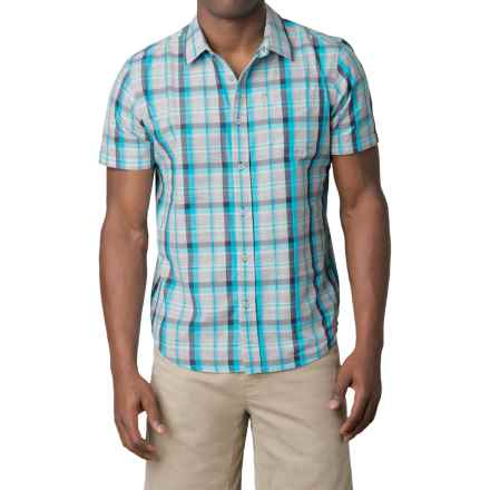 prAna Tamrack Shirt - Short Sleeve (For Men) in Classic Blue - Closeouts