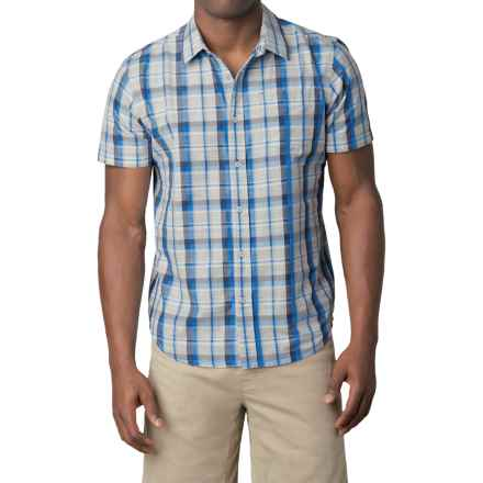 prAna Tamrack Shirt - Short Sleeve (For Men) in Dress Blue - Closeouts