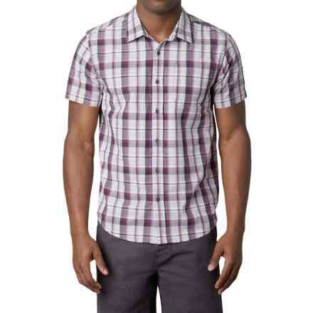 prAna Tamrack Shirt - Short Sleeve (For Men) in Grapevine - Closeouts