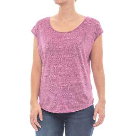 prAna Tandi Shirt - Organic Cotton, Short Sleeve (For Women) in Rich Fuchsia - Closeouts