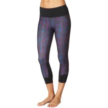 prAna Tatum Capris (For Women) in Black Kaleidoscope - Closeouts