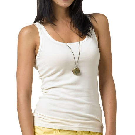 prAna Tempest Tank Top - Stretch Organic Cotton, Racerback (For Women) in White