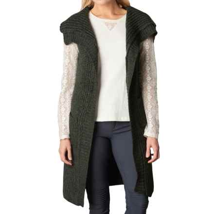 prAna Thalia Sweater Vest (For Women) in Cargo Green - Closeouts