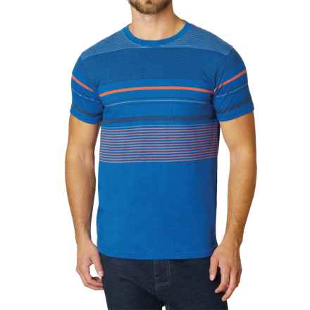 prAna Throttle T-Shirt - Organic Cotton, Short Sleeve (For Men) in Classic Blue - Closeouts