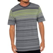 prAna Throttle T-Shirt - Organic Cotton, Short Sleeve (For Men) in Gravel - Closeouts