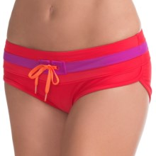 prAna Tobago Bikini Bottoms - UPF 50+, Low Rise (For Women) in Cherry Pop - Closeouts
