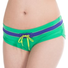 prAna Tobago Bikini Bottoms - UPF 50+, Low Rise (For Women) in Cool Green - Closeouts