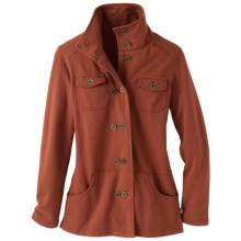 prAna Tori Military Jacket - Fleece (For Women) in Rust - Closeouts