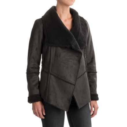 prAna Townie Jacket - Faux Suede (For Women) in Charcoal - Closeouts
