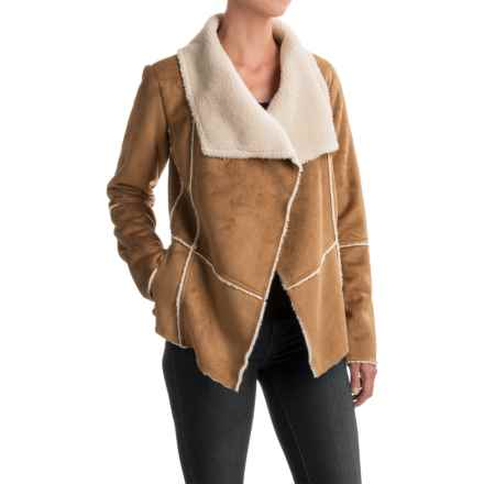 prAna Townie Jacket - Faux Suede (For Women) in Light Cumin - Closeouts