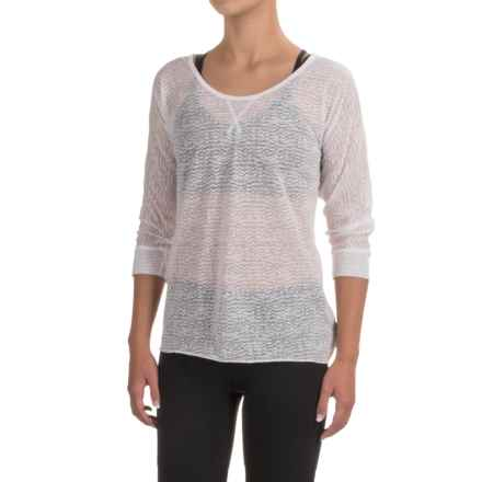 prAna Tranquil Shirt - 3/4 Sleeve (For Women) in White - Closeouts