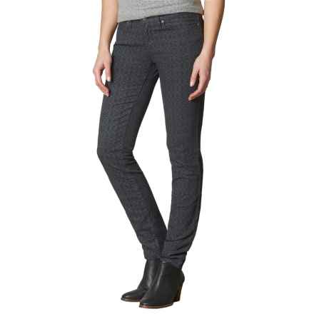 prAna Trinity Corduroy Pants - Organic Cotton, Low Rise (For Women) in Charcoal Marsala - Closeouts