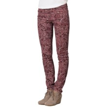 prAna Trinity Corduroy Pants - Organic Cotton, Low Rise (For Women) in Rhubarb Paisley - Closeouts