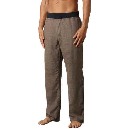 prAna Vaha Pants (For Men) in Brown Herringbone - Closeouts
