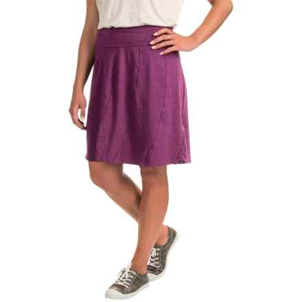 prAna Vendela Skirt - Organic Cotton (For Women) in Grapevine - Closeouts