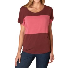 prAna Vicki T-Shirt - Short Sleeve (For Women) in Raisin - Closeouts