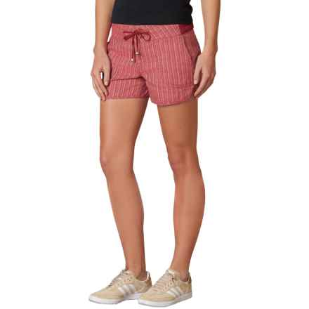 prAna Vinia Shorts - Mid Rise, Organic Cotton (For Women) in Sunwashed Red - Closeouts