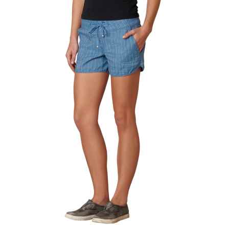 prAna Vinia Shorts - Mid Rise, Organic Cotton (For Women) in Vintage Cobalt - Closeouts