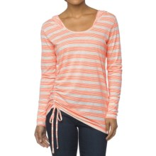 prAna Vinyasa Hoodie Shirt - Long Sleeve (For Women) in Glowing Coral - Closeouts