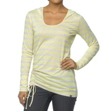 prAna Vinyasa Hoodie Shirt - Long Sleeve (For Women) in Limeade - Closeouts