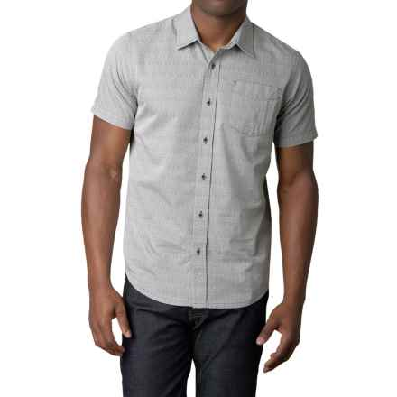 prAna Voyage Shirt - Short Sleeve (For Men) in Silver - Closeouts