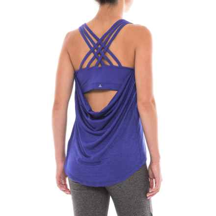 prAna Waterfall Tank Top - Built-In Bra (For Women) in Cobalt - Closeouts