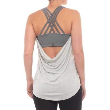 prAna Waterfall Tank Top - Built-In Bra (For Women) in Silver