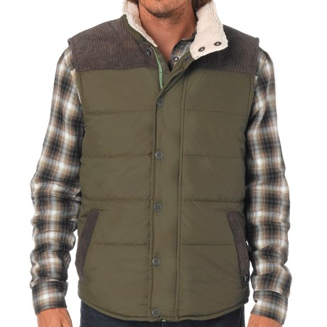 prAna Waylen Vest - Insulated (For Men) in Cargo Green