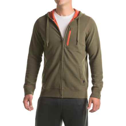 prAna Wes Hoodie - Organic Cotton (For Men) in Cargo Green - Closeouts