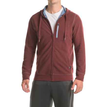 prAna Wes Hoodie - Organic Cotton (For Men) in Raisin - Closeouts